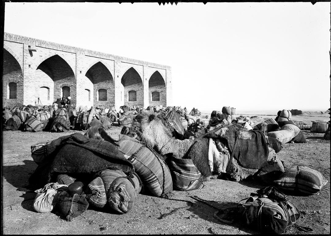 Handelskaravan, färdig till uppbrott, i Rabat-gur